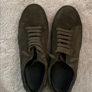 Forest Green Suede sneakers by Vince
